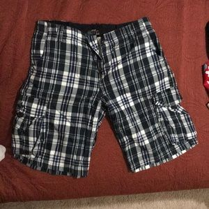 Flannel pattern shorts